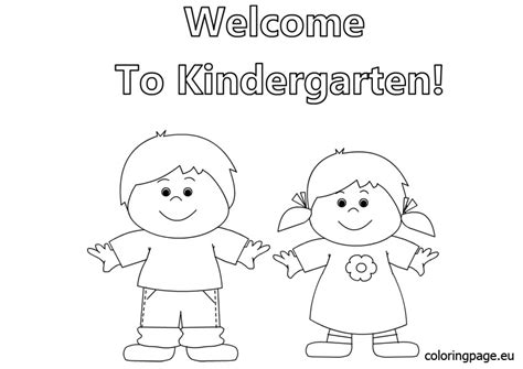 Welcome To Kindergarten Coloring Page Printabl Coloring