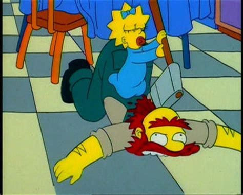 Simpsons Toaster - s06 e06 treehouse of horror v puzzled pagan presents