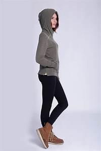Velour hoodie u0026 black leggings | Leggings outfits | Pinterest