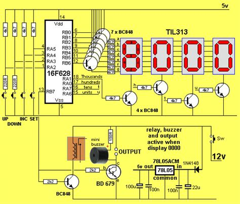 Digit Down Counter Electronics Maker