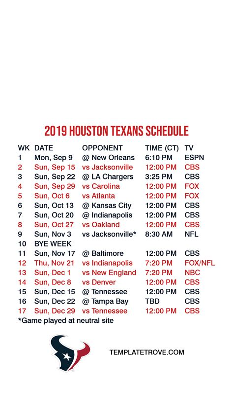 houston texans lock screen schedule  iphone