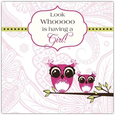 Funky Owl Girl Baby Shower Invitations Paperstyle