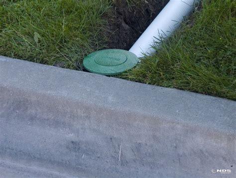 landscape drain drainage landscape solutions