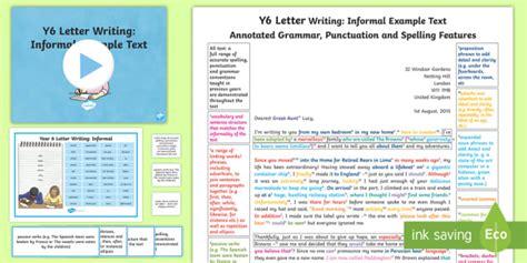 letter writing informal model  text