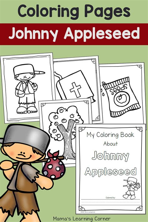 johnny appleseed coloring pages mamas learning corner