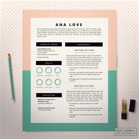 Modern Resumes 2015 by Jobresumeweb Instant Resume Templates 2015