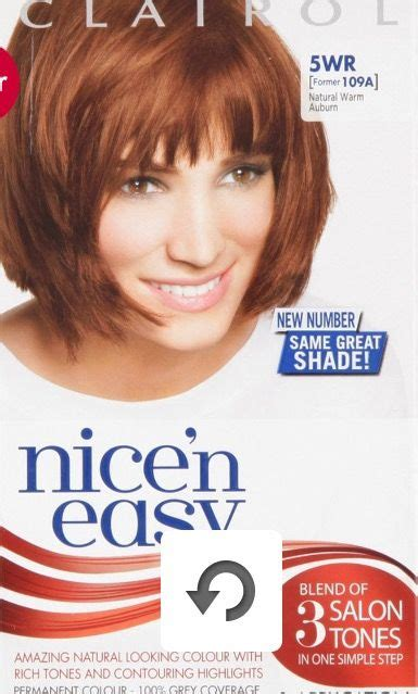 clairol nicen easy natural warm auburn wr hair pinterest