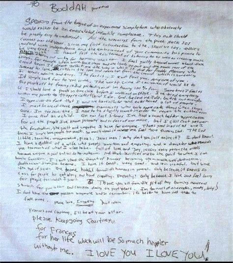 kurt cobain letter unique kurt cobain letter cover letter exles 31427