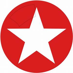 Red Circle with White Star Logo