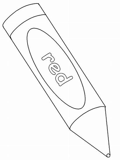 Crayon Coloring Pages Printable Clipart Template Crayons