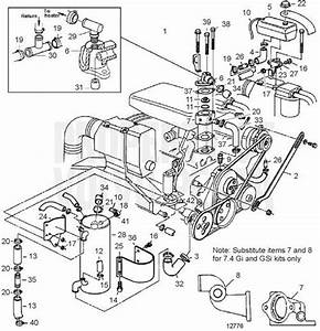 Volvo Penta Exploded View    Schematic Freshwater Cooling 7 4glphus  7 4giphusce  7 4gsixhus  7