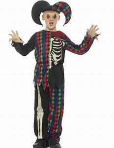 Deguisement Joker Enfant : costume da giullare scheletro per bambino halloween costumi bambini e vestiti di carnevale ~ Preciouscoupons.com Idées de Décoration