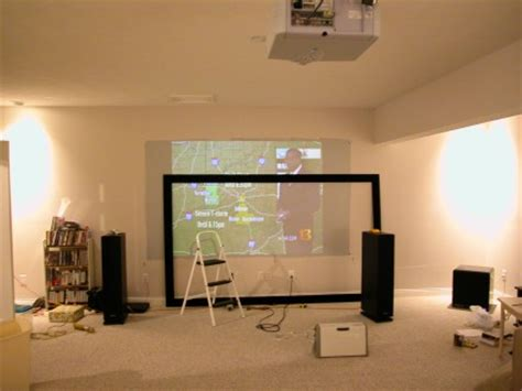 what is the best color wall for projector carltonbale 187 a home theater projector screen for any