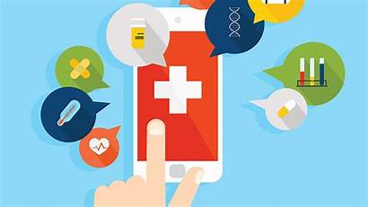 Telehealth Health Mobile Clipart Patient Medical Collaboration
