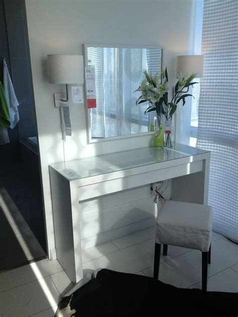 vanity table with lighted mirror ikea malm vanity table ikea makeup vanity ideas pinterest