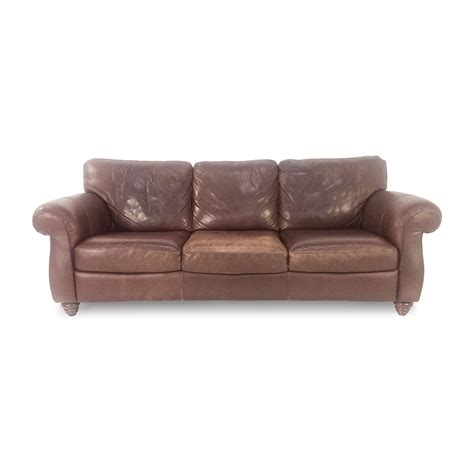 used brown leather sofa best used real leather for