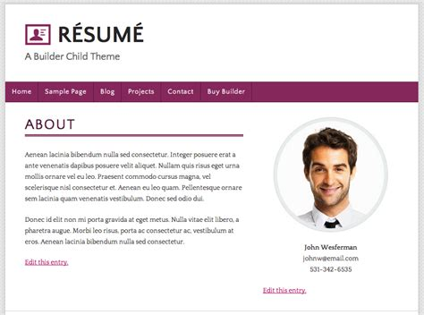 resume website exles berathen