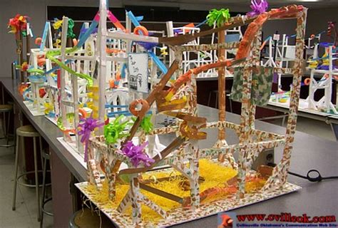 marble roller coasters   paper april
