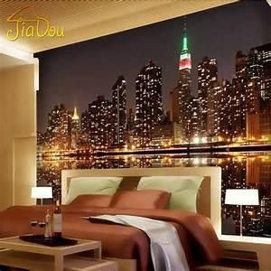 High Quality Custom 3D Photo Wallpaper City Night View ...
