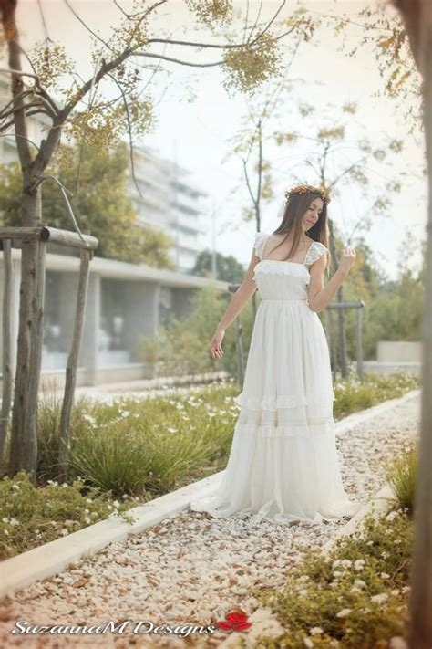 wedding dress bohemian wedding gown boho bridal gown