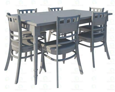 mod 232 le 3d chaises et table 224 manger provence