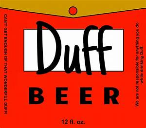 duff beer label by bottleyourbrand With duff beer label