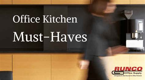 office desk must haves 5 must haves for your office kitchen runco office