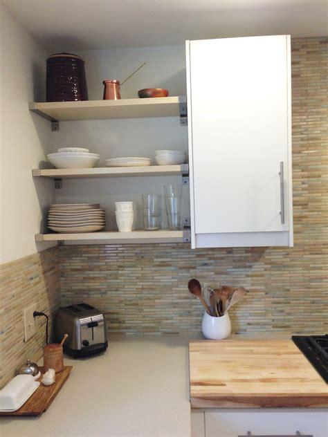 Corner Wall Cabinet Open Shelf Kitchen