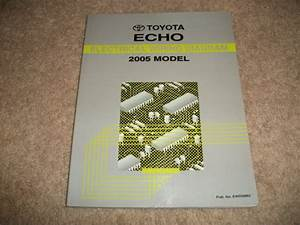 2005 Toyota Echo Electrical Wiring Diagrams Service Manual
