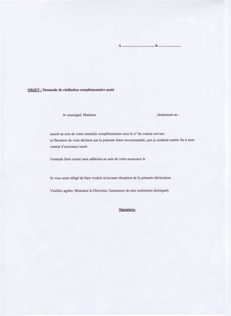 modèle de lettre de renonciation exemple lettre de r 233 siliation lettre pour resilier contrat