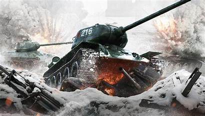 4k Tank Action 34 Russian Wwii Wallpapers