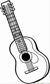 Coloring Instruments Pages Guitar Printable String Instrument Outline Musical Drawing Line Mandolin Colouring Acoustic Sheets Template Adult Bass Sheet Getcoloringpages sketch template