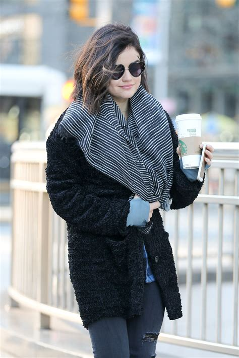 LUCY HALE Out and About in New York – HawtCelebs