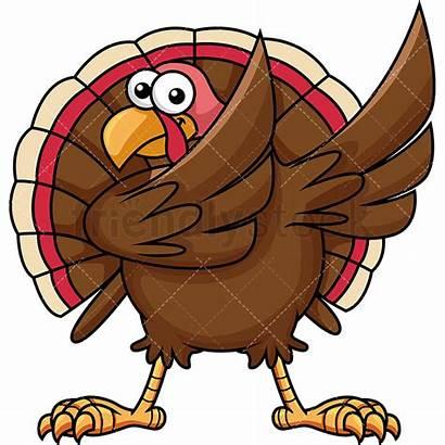 Turkey Dabbing Clipart Cartoon Vector Clip Turkeys