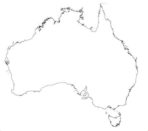 blank map  australia australien leere karte