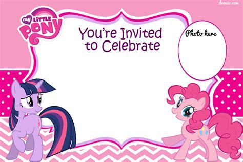 printable   pony birthday invitation template