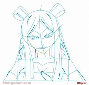 How to Draw Minerva Orland from Fairy Tail - Mangajam.com