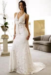 Vintage Beach Lace Wedding Dress