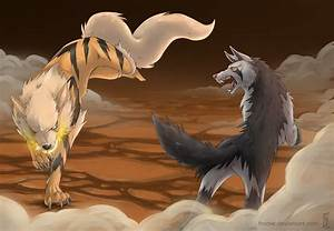 Arcanine Vs Mightyena by Frodse on DeviantArt