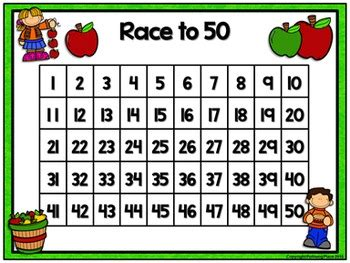 counting numbers game race      apples