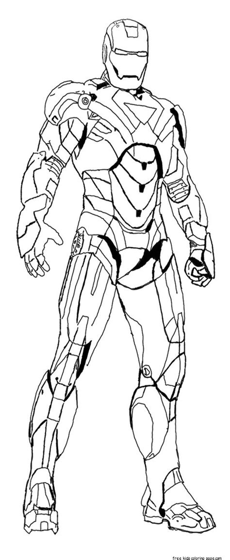 iron man colouring pictures  print  kidsfree