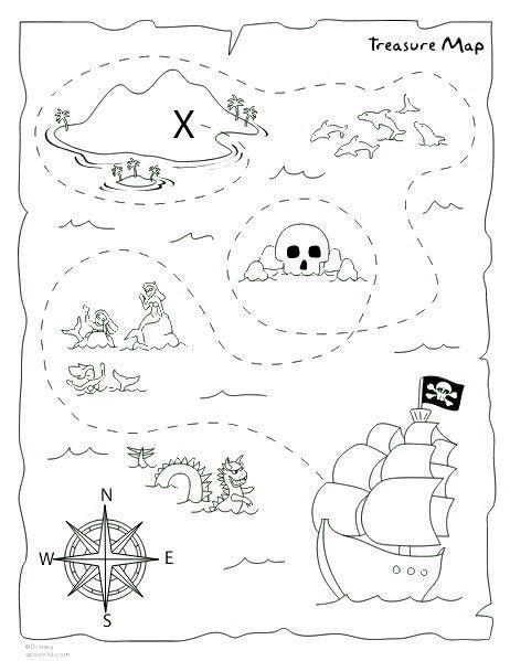 pirate treasure map printable worksheets worksheets master