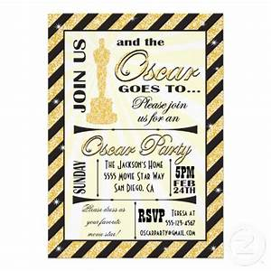 academy award oscar party invitations design brochure With academy awards invitation template