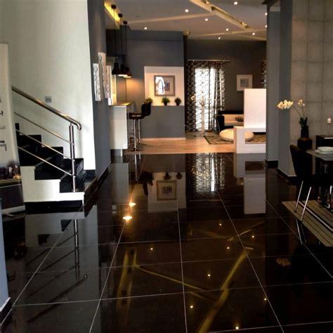 carrelage cuisine noir brillant maison design bahbe com