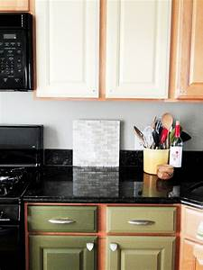 straight shaped two toned cabinets in kitchen with grey With kitchen colors with white cabinets with enclosed candle holders