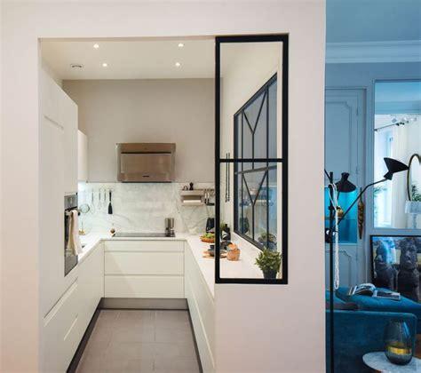 plan de travail separation cuisine sejour amazing une cuisine avec verrire de caractre imagine par