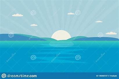 Sea Sun Mountain Ocean Landscape Morning Shine