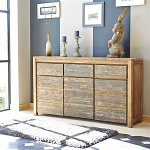 Buffet En Teck : buffet en bois de teck recycl 160 cargo bois dessus bois dessous ~ Teatrodelosmanantiales.com Idées de Décoration