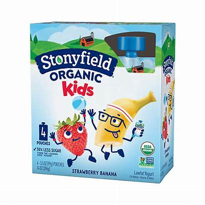 Stonyfield Pack Pouches Strawberry Banana Fat Low