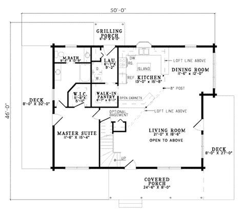 Log Style House Plan 2 Beds 2 00 Baths 1940 Sq/Ft Plan